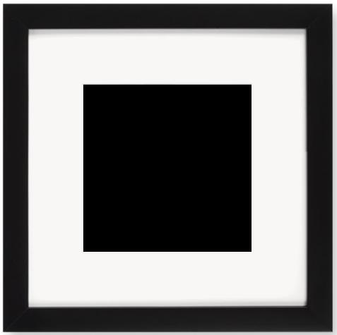 """Print Size = 6x6"""" (15x15cm) {1:1} --- Frame Size =  10x10"""" (25x25cm) {1:1}"""