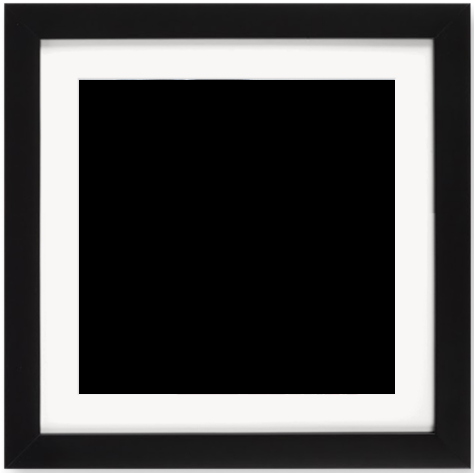 """Print Size = 8x8"""" (20x20cm) {1:1} --- Frame Size =  10x10"""" (25x25cm) {1:1}"""