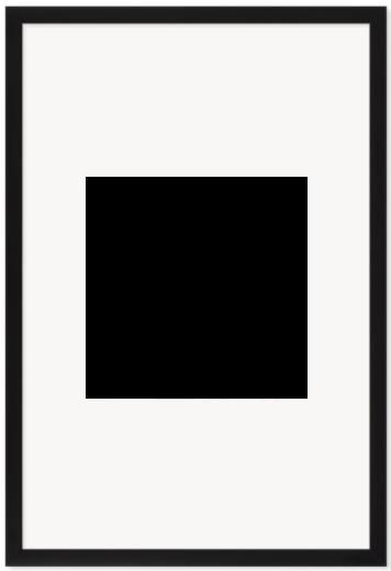 """Print Size = 10x10"""" (25x25cm) {1:1} --- Frame Size =  10x10"""" (40x60cm) {2:3}"""