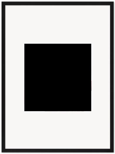 """Print Size = 14x14"""" (35x35cm) {1:1} --- Frame Size =  22x30"""" (55x76cm) {2:3}"""